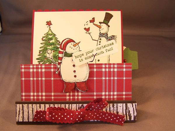 hidden message accordion fold card stamping country
