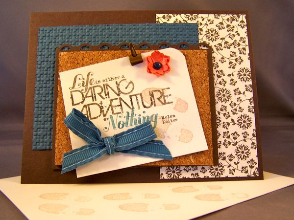 Cork Board For Cards Mini Scrapbooks Stamping Country