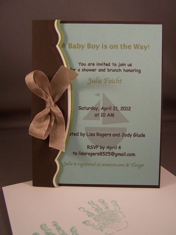 Baby Shower Invitation - Stamping Country