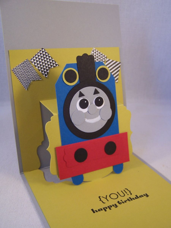 Thomas Train Punch Art Pop Up Card Stamping Country