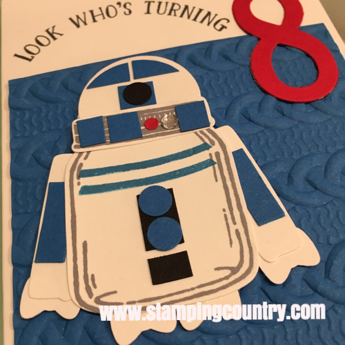 Believe It Or Not I Made The R2 D2 With A Combination Of Punches Dies And Stamps Rugged Highly Textured Cable Knit Background Really Pop
