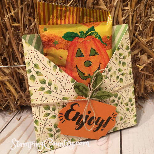 Painted Autumn Treat Holder
