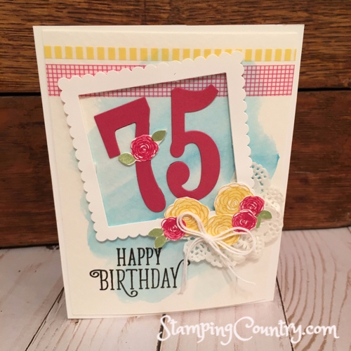 Happy 75th Birthday Stamping Country – 75 Birthday Card
