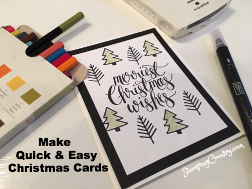 Watercolor Christmas Stampin' Up!