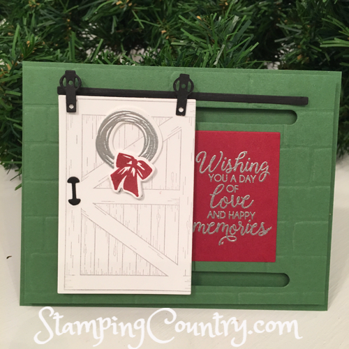 Sliding Barn Door Stampin' Up!