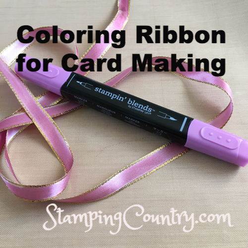 Coloring Ribbon for Card Making