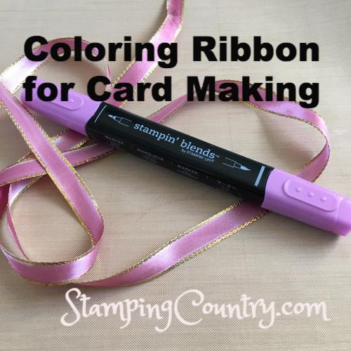 Coloring Ribbon for Card Making