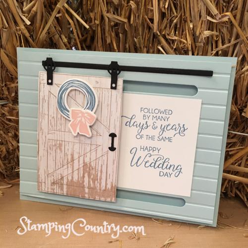 Barn Door Wedding Slider Card