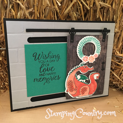 Dragon Sliding Barn Door Card