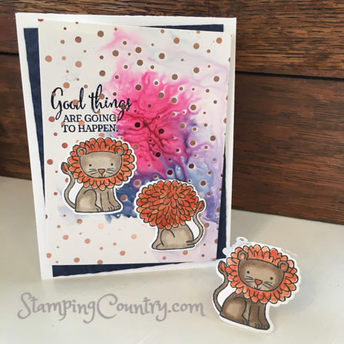 A Little Wild Stampin' Up! Card Idea