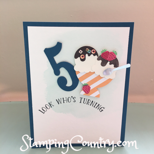 5 Year Birthday Card Stamping Country