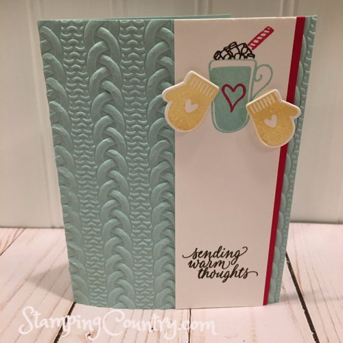 Smitten Mittens, Hug in a Mug Stampin' Up!