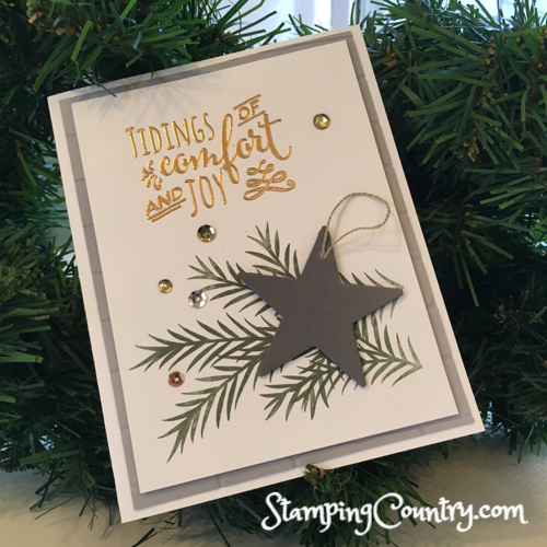 Christmas Pines Stampin' Up! Card