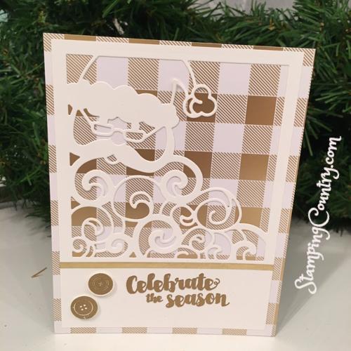 Detailed Santa Handmade Card