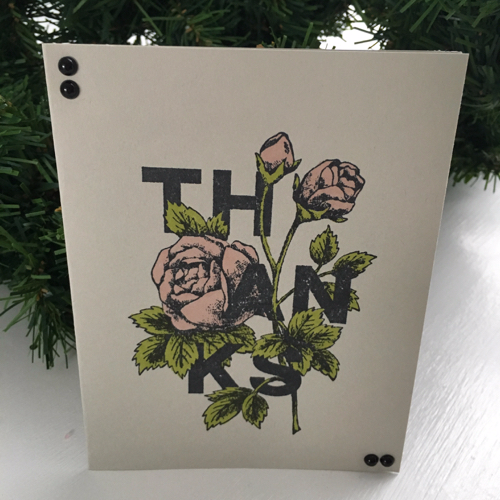 Rose Thank You Card by Tara Griffin