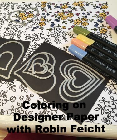 Coloring on Designer Paper