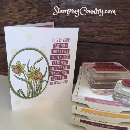 You're Inspiring & Birthday Wit Stampin' Up!