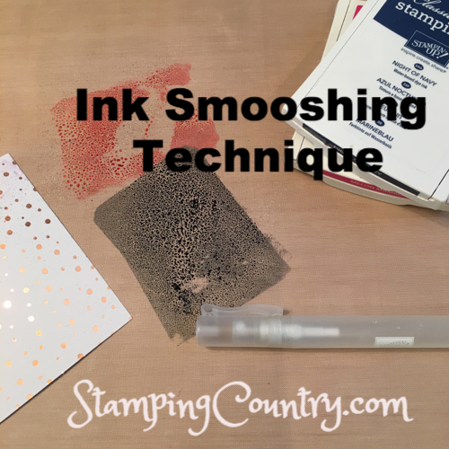 Ink Smooshing Technique