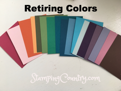 Stampin' Up! Retiring Colors