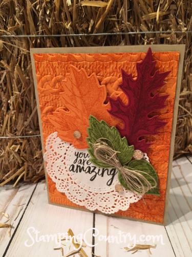 Handmade Vintage Leaves Card
