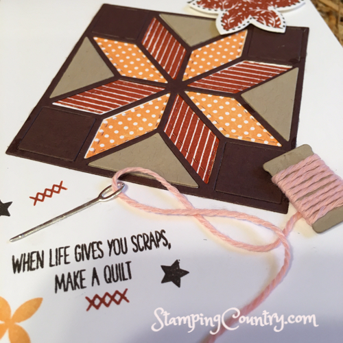 Christmas Quilt Stampin' Up!