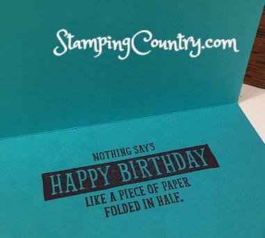 Birthday Wit Stampin' Up!