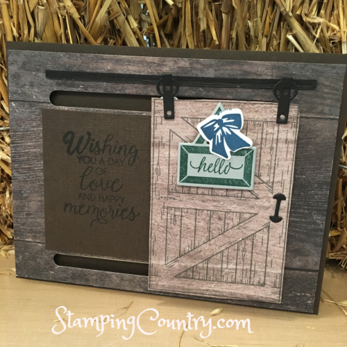 Primitive Barn Door Slider Card