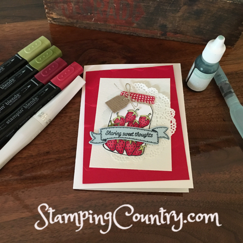 RMHC Stampin' Up! Sharing Sweet Thoughts