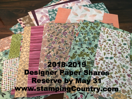 2018-2019 Stampin' Up! Paper Shares2018-2019