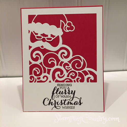 Detailed Santa Handmade Card