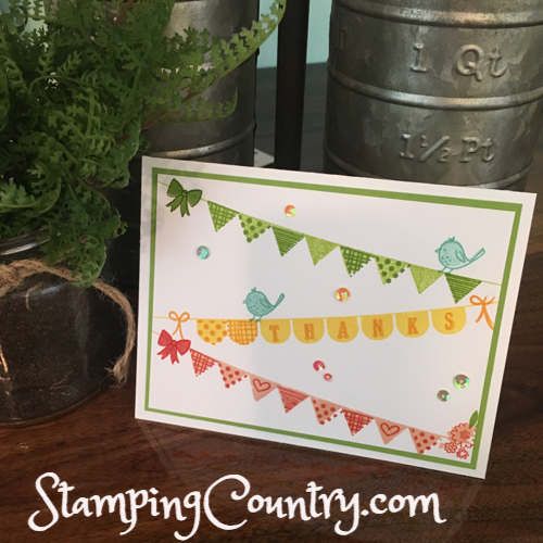 Pick a Pennant Stampin' Up!