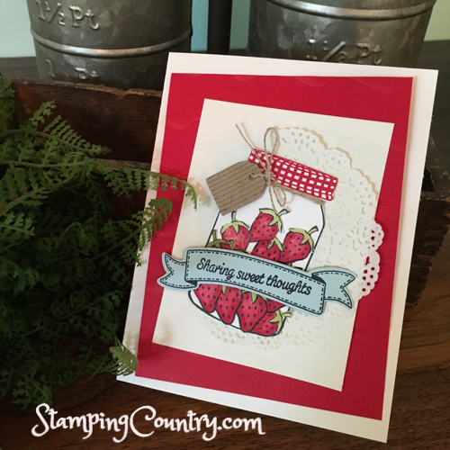 RMHC Stampin Up Sharing Sweet Thoughts