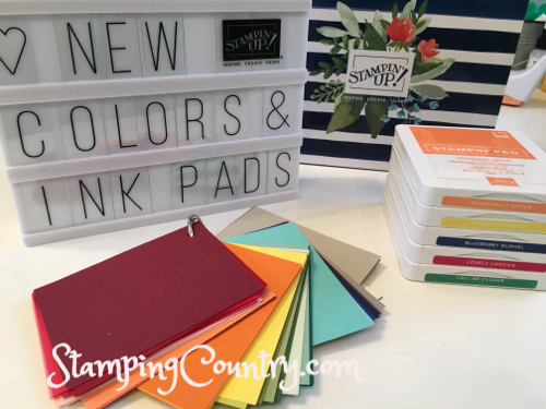 Stampin' Up! New Colors & Ink Pads