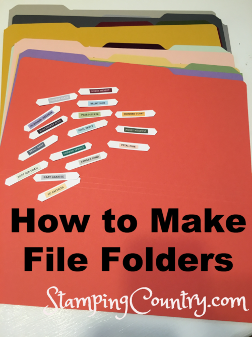 How to Make File Folders