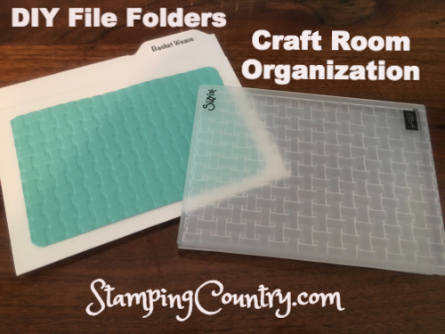 DIY File Folders-Craft Room Organization