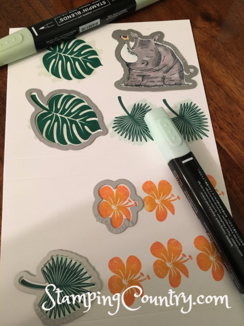 Animal Outing Tropical Chic Stampin' Up!