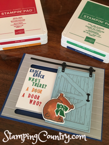 How to Make Knock Knock Joke Cards - Stamping Country