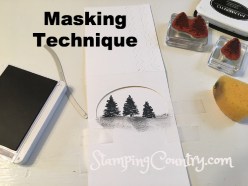 Masking Technique Card Making