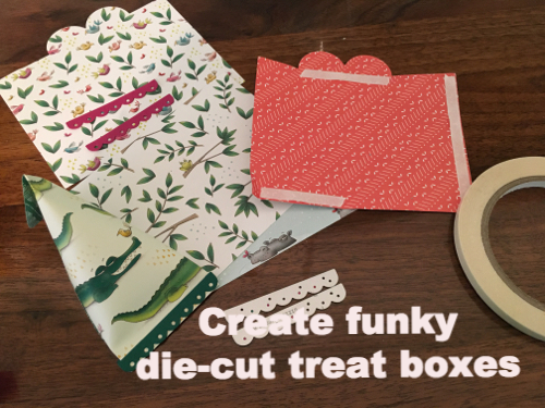 Create funky die-cut treat boxes