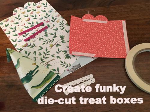 Create funky die-cut treat boxes