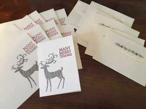 Dashing Deer Thank You Cards