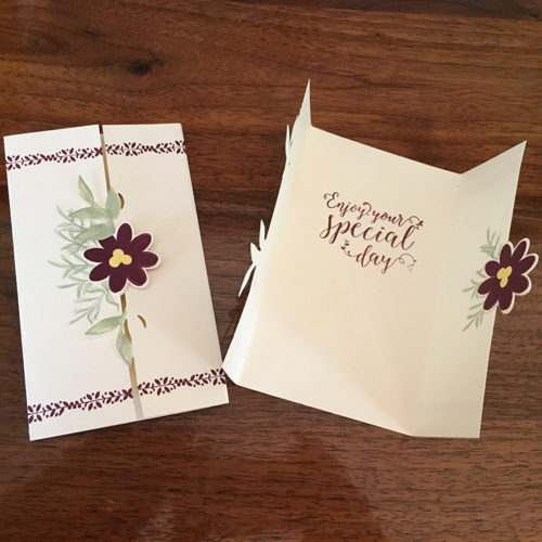 Gate Fold Card by Karen Gillespie