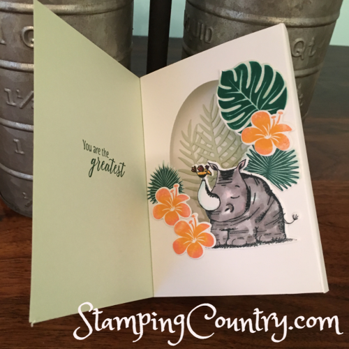 Shadow Box Card Animal Outings