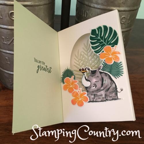 Shadow Box Card Animal Outings