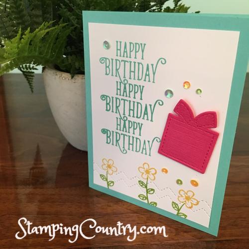 Happy Birthday Gorgeous Stampin' Up!