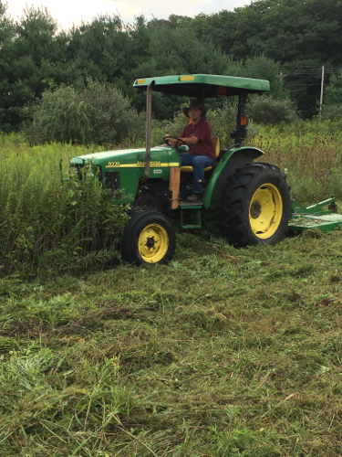 Bryan on his big green tractor