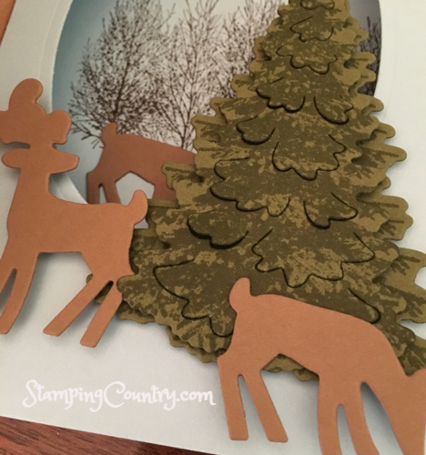 Winter Woods, Dashing Deer Shadow Box Card