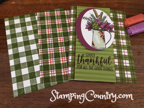 Buffalo Check Stampin' Up!