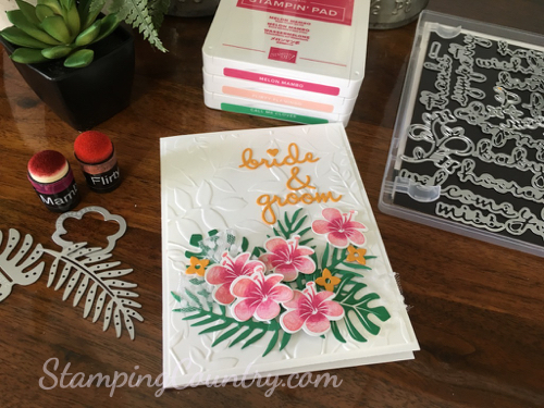 Tropical Chic Wedding Card Stampin' Up!