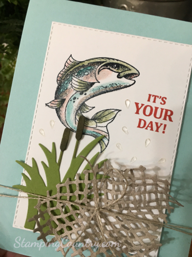 handmade card for fishermen